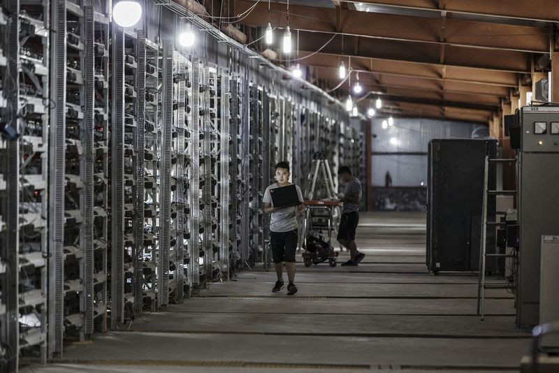 Bitcoin bánya Kínában